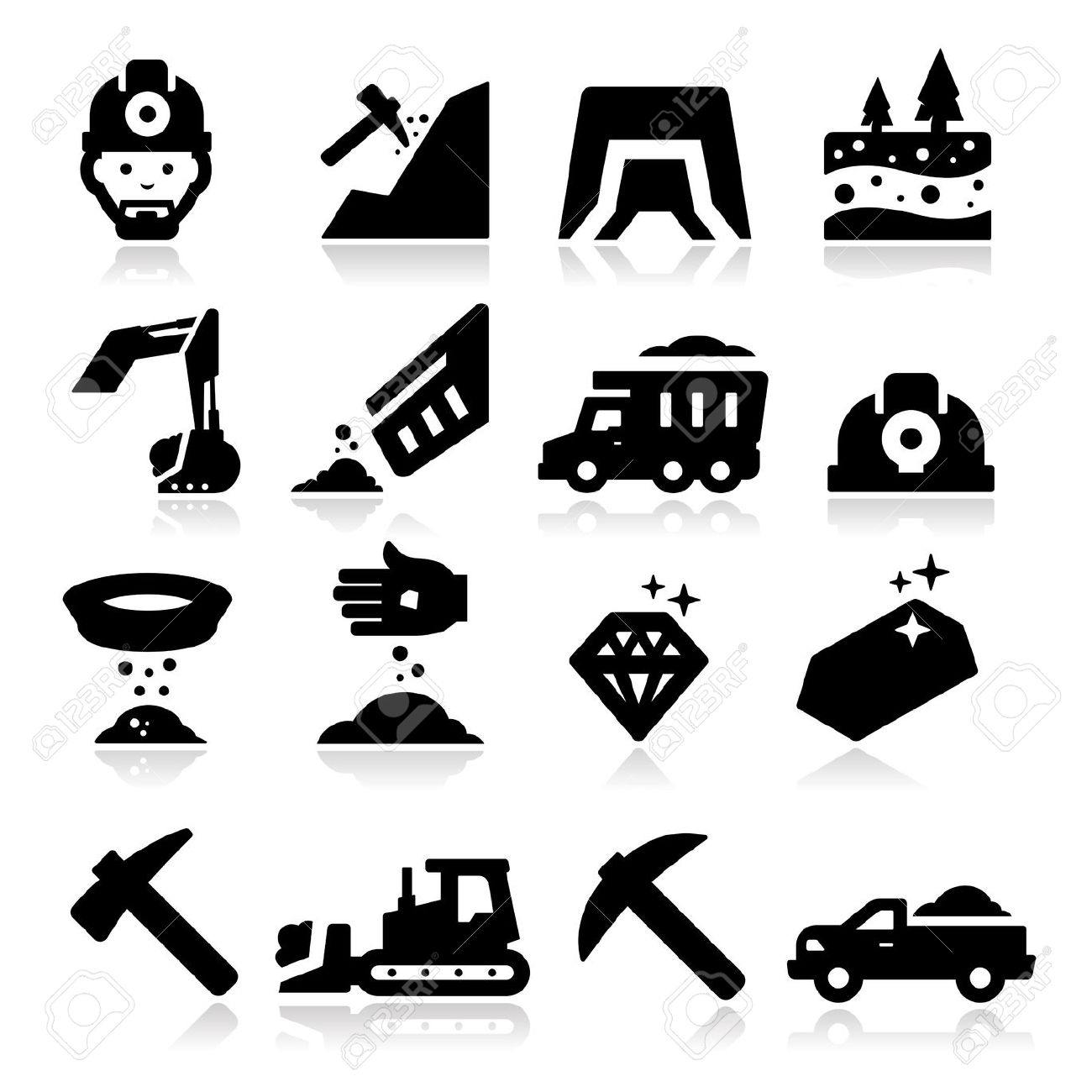 Mining Icon Clipart.