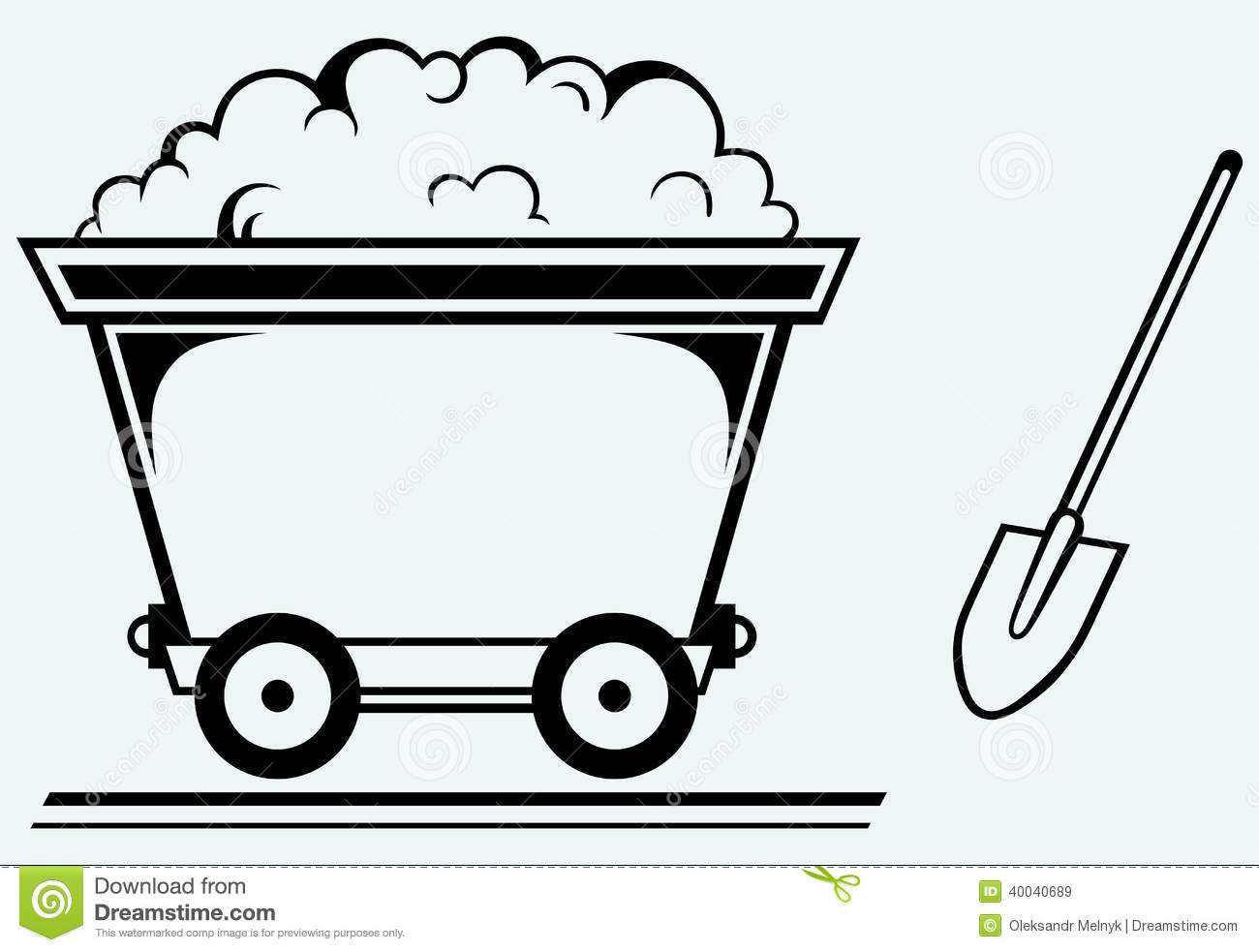 Gold Mine Cart 2c Stock Illustrations.