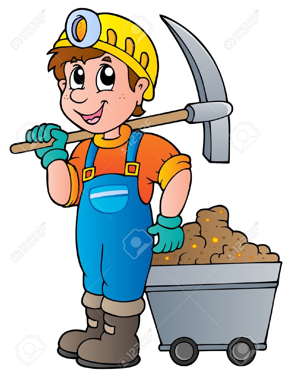 Mining engineer clipart.