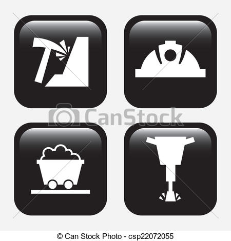 Clipart Vector of mining design.