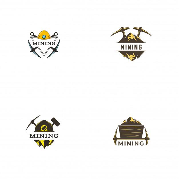 Mining logo template Vector.