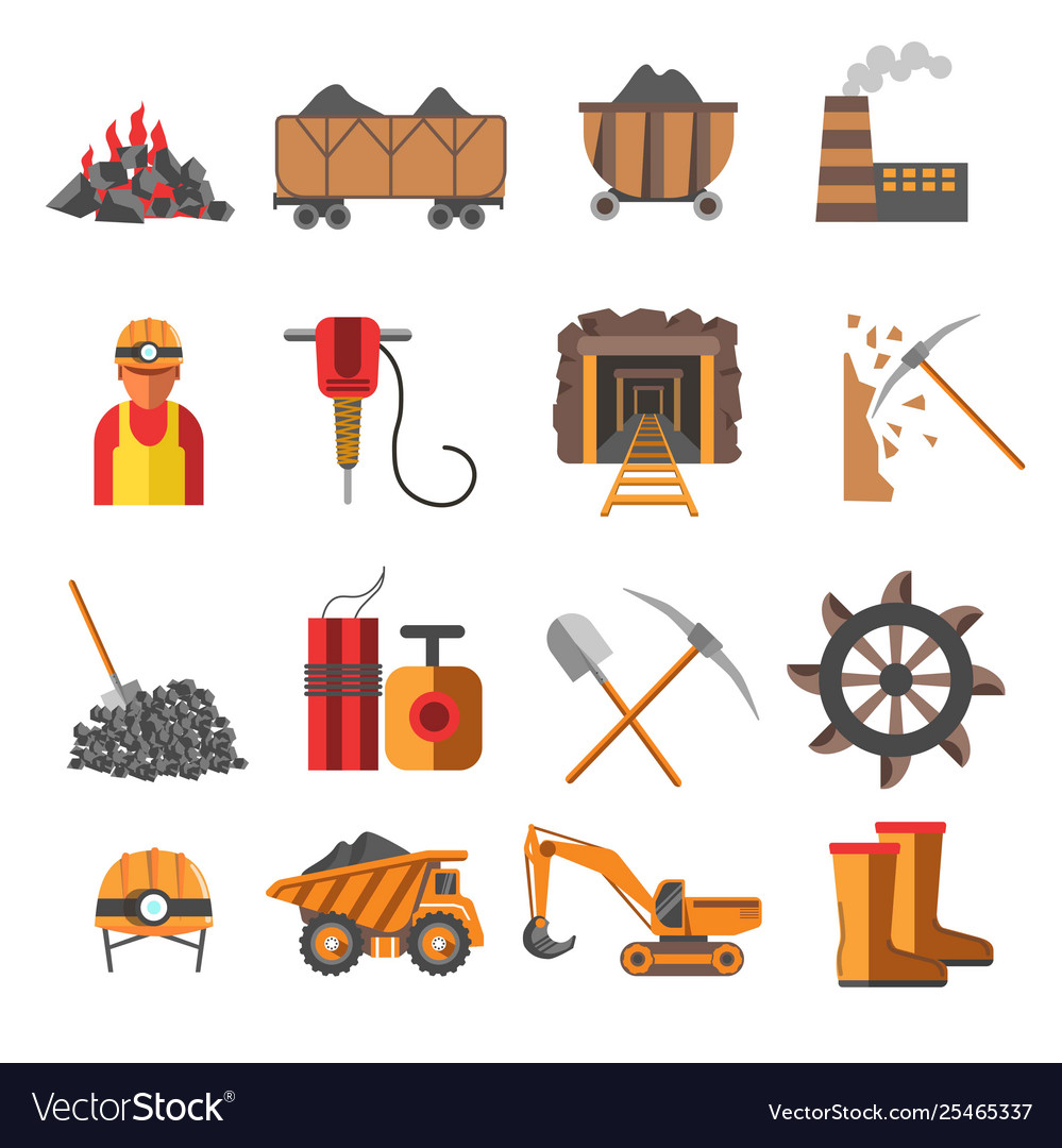 Mining industry coal mine equipment and machines.