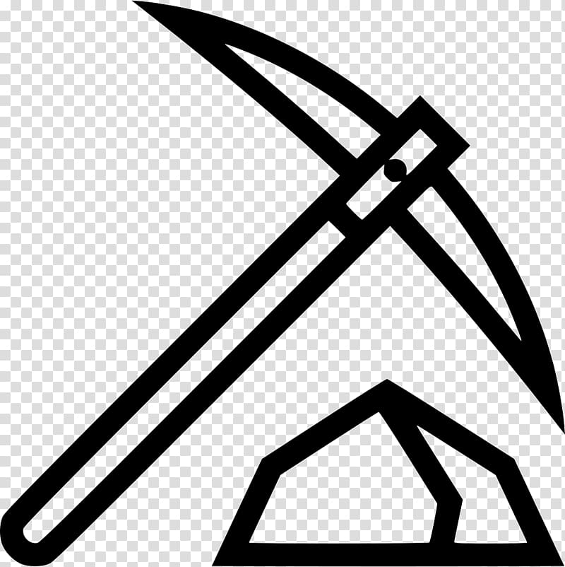 Pickaxe Computer Icons Mining, wild west transparent.