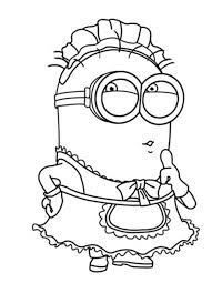 Image result for minion clipart black and white.