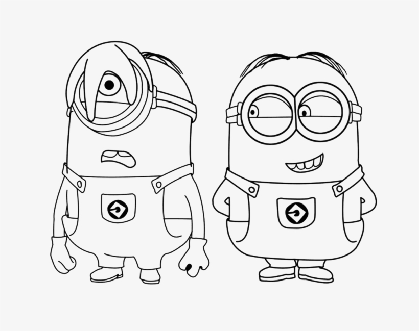 Minions Clipart Black And White.