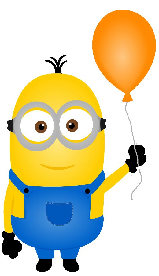 Birthday minion clipart.