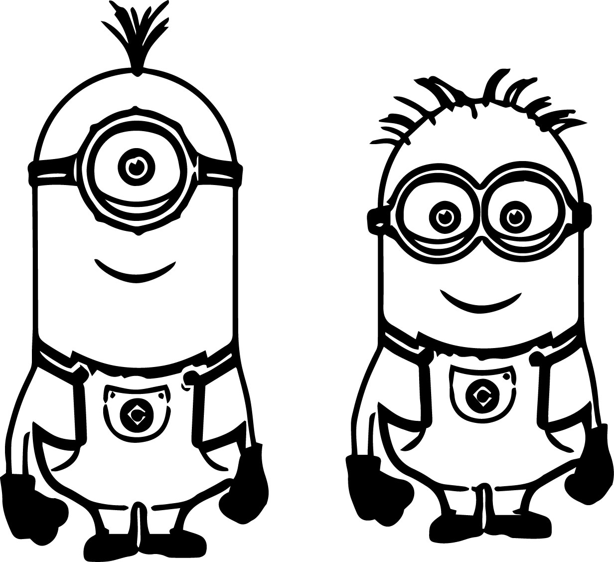 Minion color clipart clipground for Coloring pages to print minions