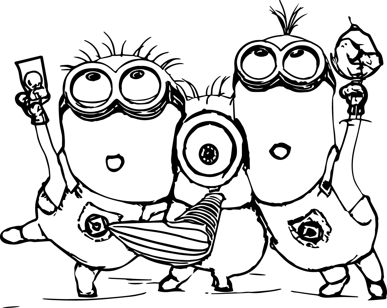 coloring print pages minions - photo#23