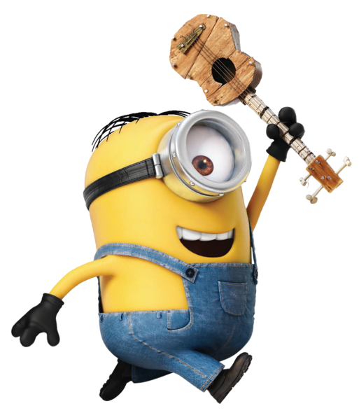 Minion Stuart Transparent PNG Image.