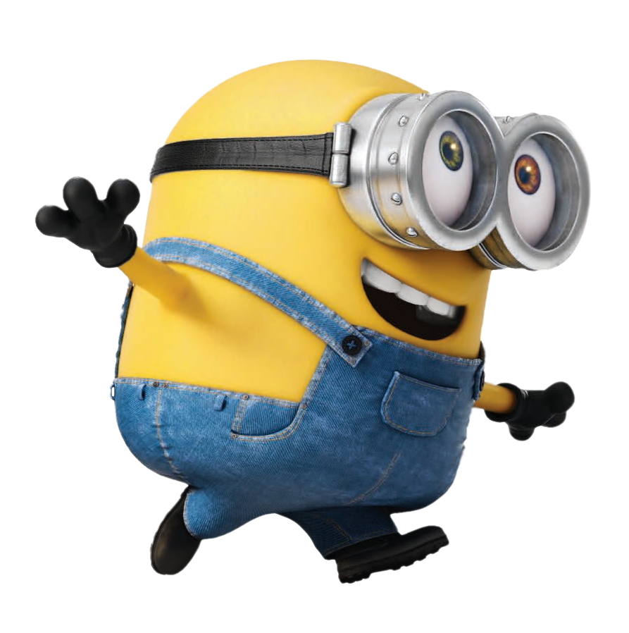 Transparent Minion Bob PNG Picture.