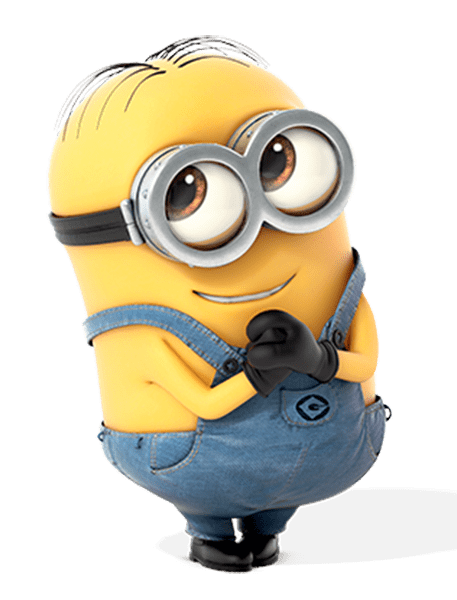 Minion Writing Notes transparent PNG.