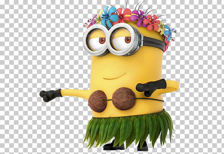 Minions Hula Girl , Bob minion PNG clipart.