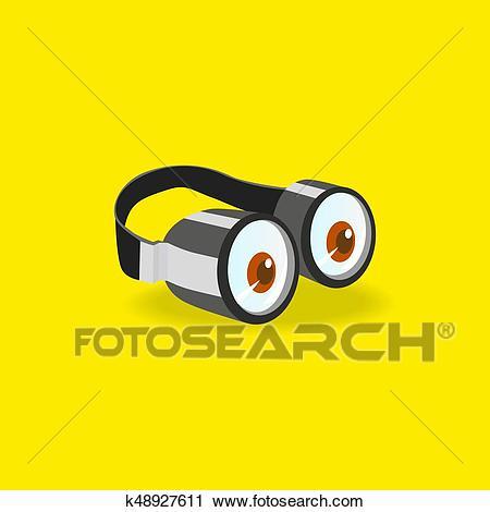 Minions goggles icon Clipart.