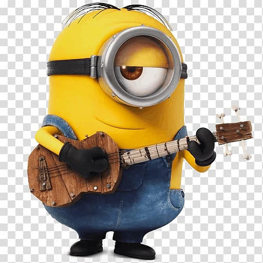 Stuart playing guitar illustration, Stuart the Minion Kevin.