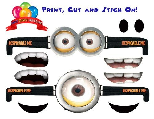 It is an image of Wild Minions Printable Eyes