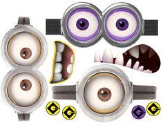 Minion Goggles Clipart Free printable minion goggles.
