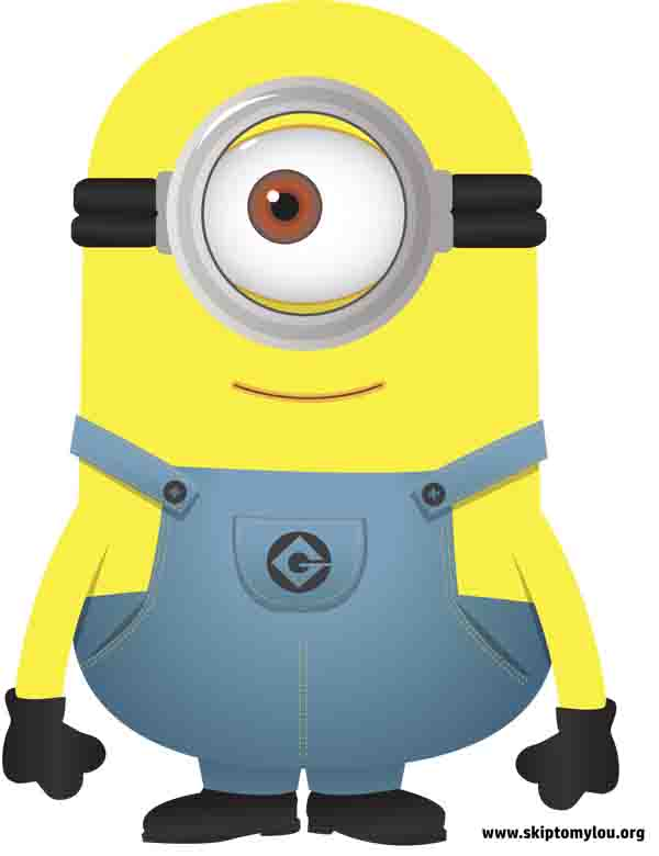 One Eyed Minion Clipart.