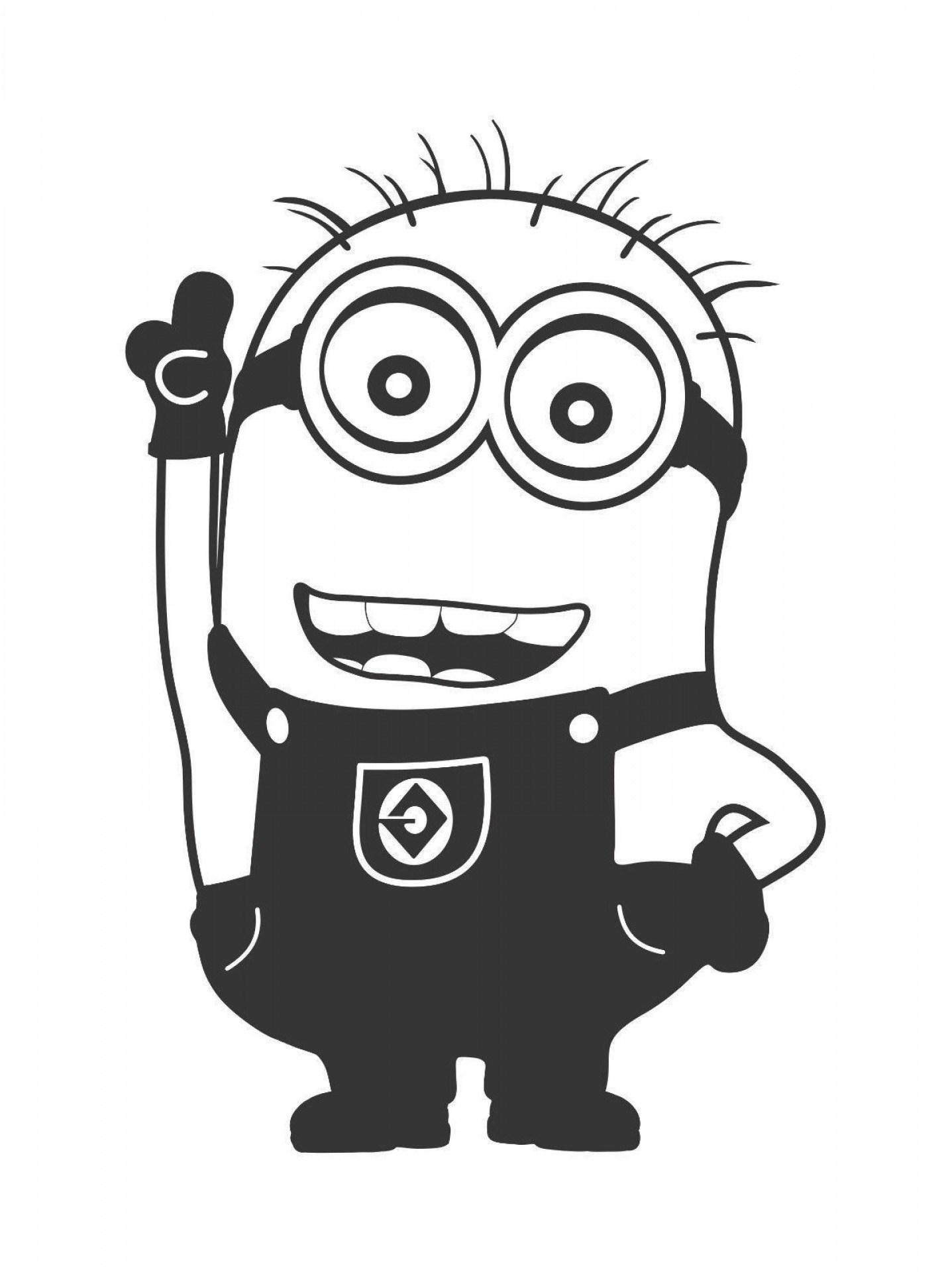 Minion black and white clipart 3 » Clipart Portal.