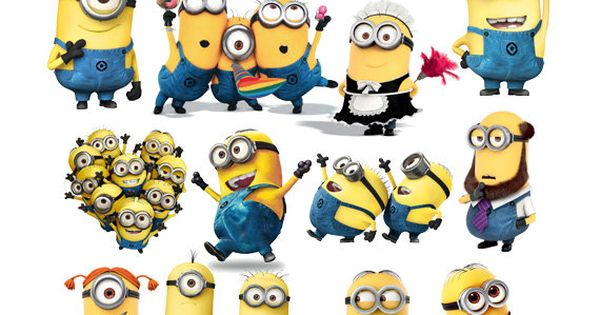 Clipart Minions Instant Download PNG files by PartyKidsDesigns.