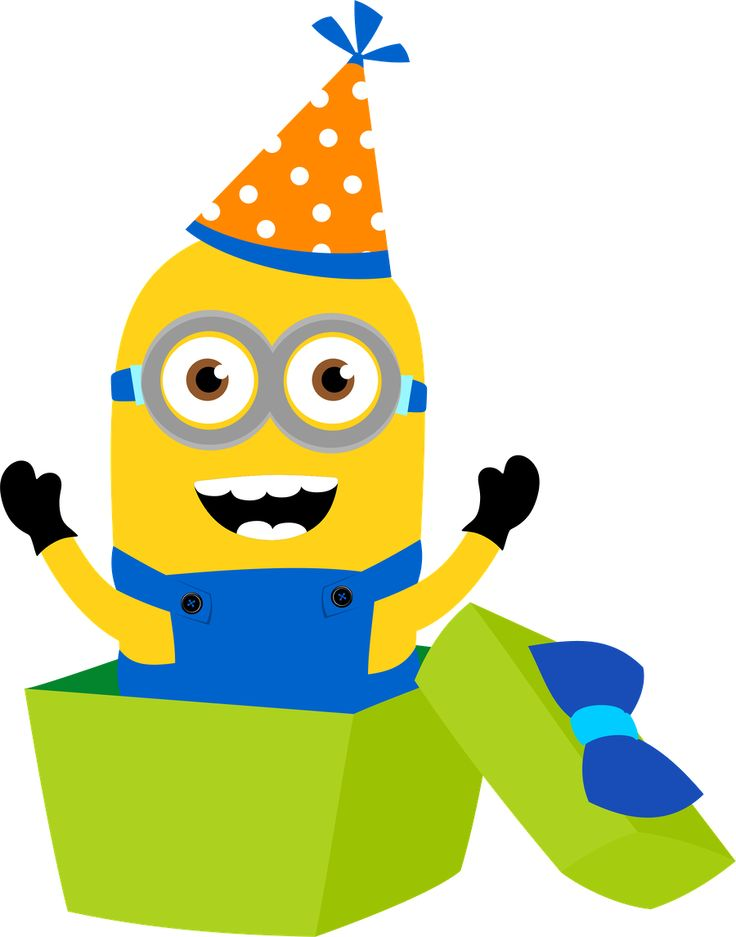 Minion Birthday Cake Clipart.