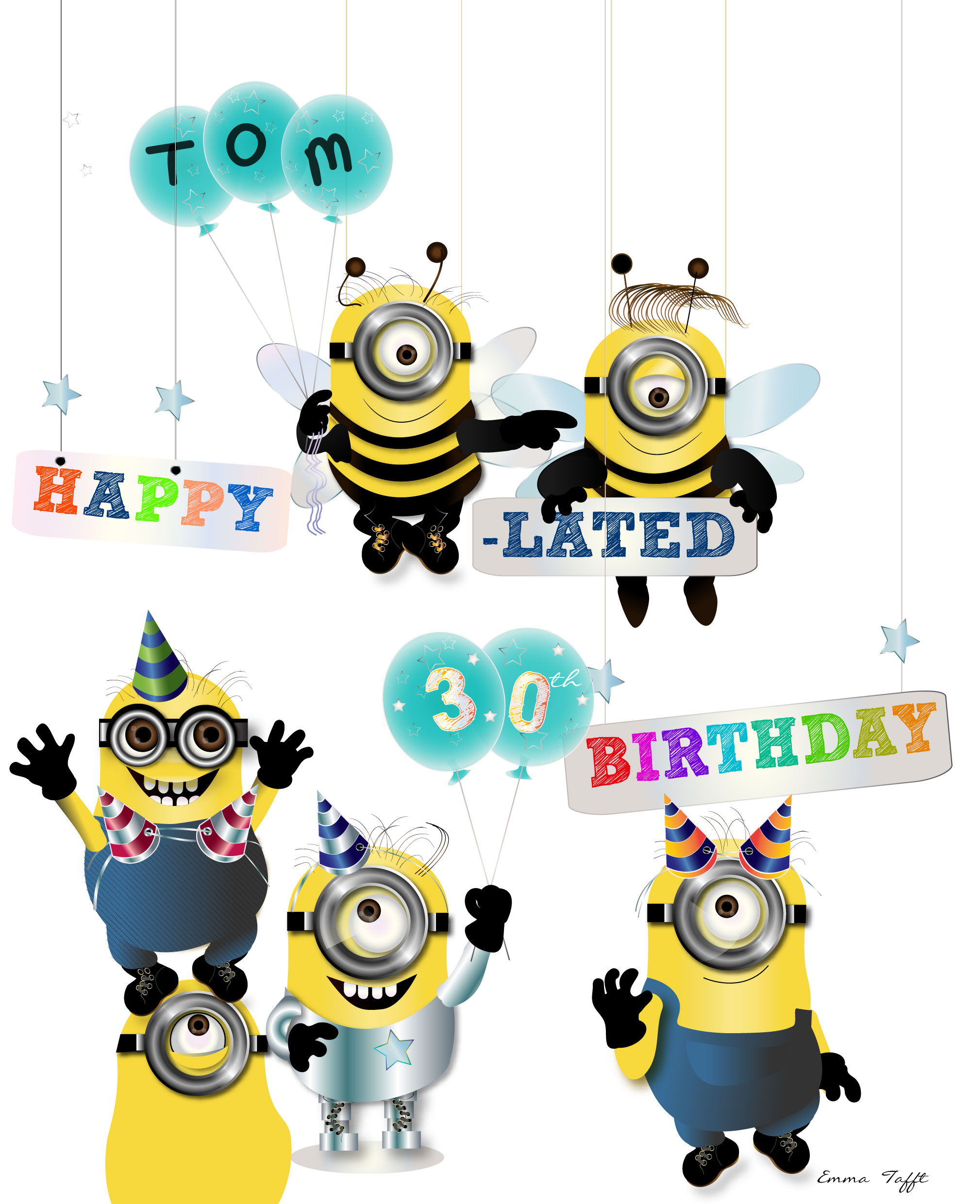 Minion Happy Birthday Clipart.