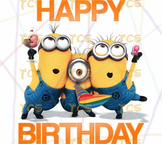 minions happy birthday clipart #3