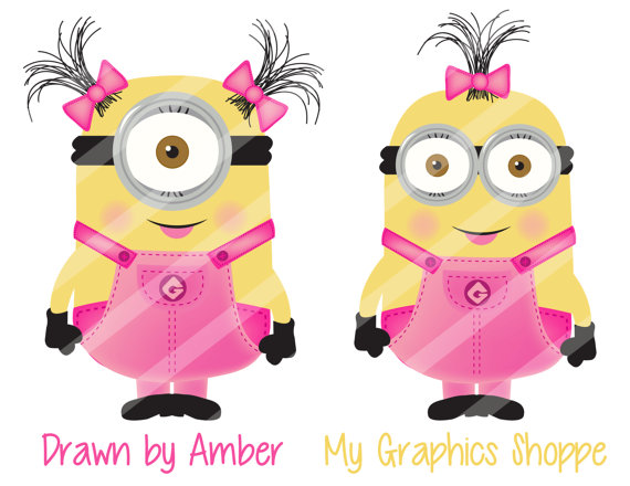 Minions clipart pink, Minions pink Transparent FREE for.