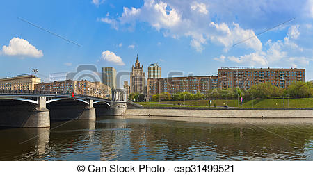 Clip Art of Moscow Panorama.