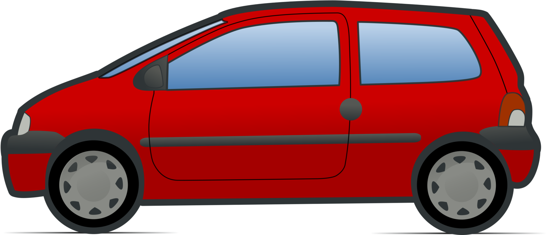Minivan Cartoon Renault Twingo.