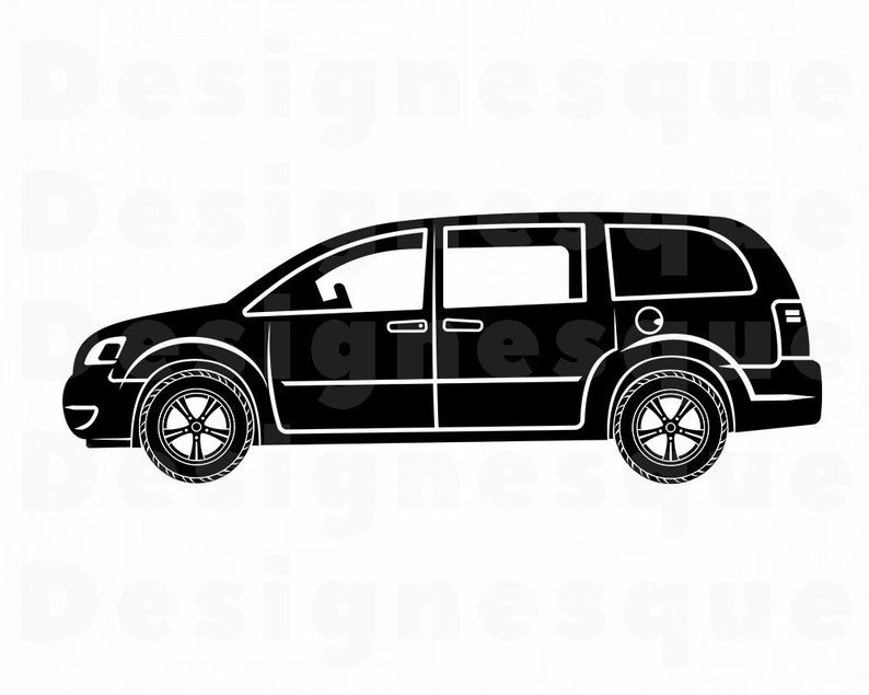 Minivan #2 SVG, Minivan SVG, Family Car Svg, Minivan Clipart, Minivan Files  for Cricut, Minivan Cut Files For Silhouette, Png, Eps, Vector.