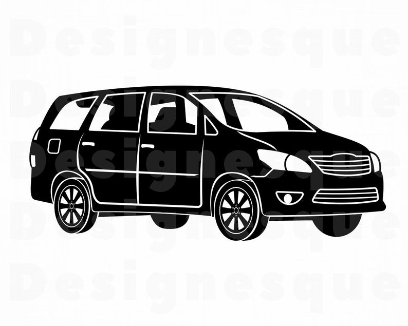 Minivan #4 SVG, Minivan SVG, Family Car Svg, Minivan Clipart, Minivan Files  for Cricut, Minivan Cut Files For Silhouette, Png, Eps, Vector.