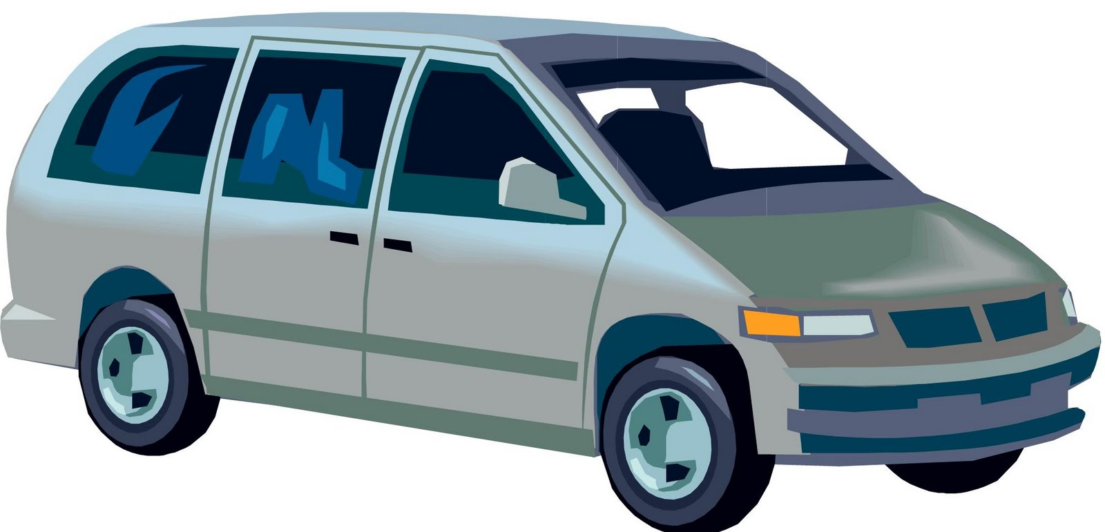 Cartoon Minivan Clipart.