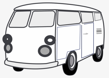 Free Van Black And White Clip Art with No Background.