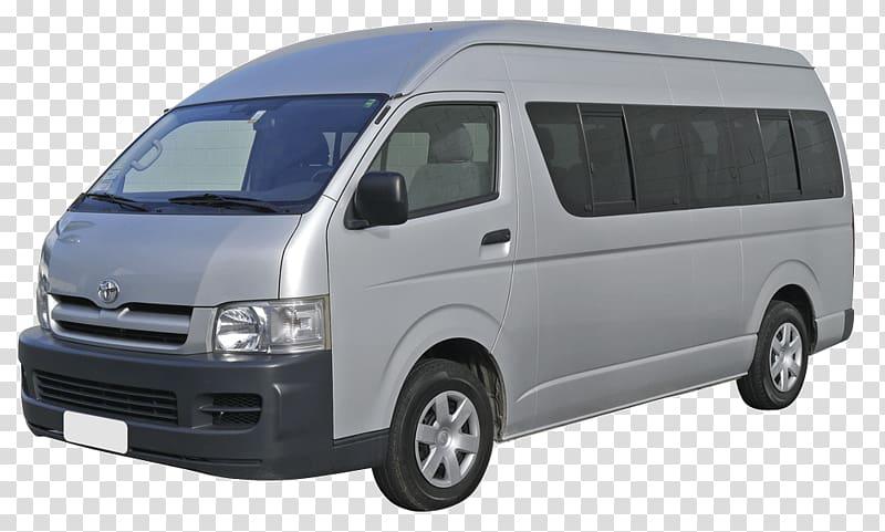 Silver Toyota van, Bus Minivan Car Taxicab, Bus transparent.