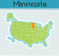 Fifty US States: Minnesota Clipart.
