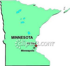 of Minnesota and Its Major Cities.