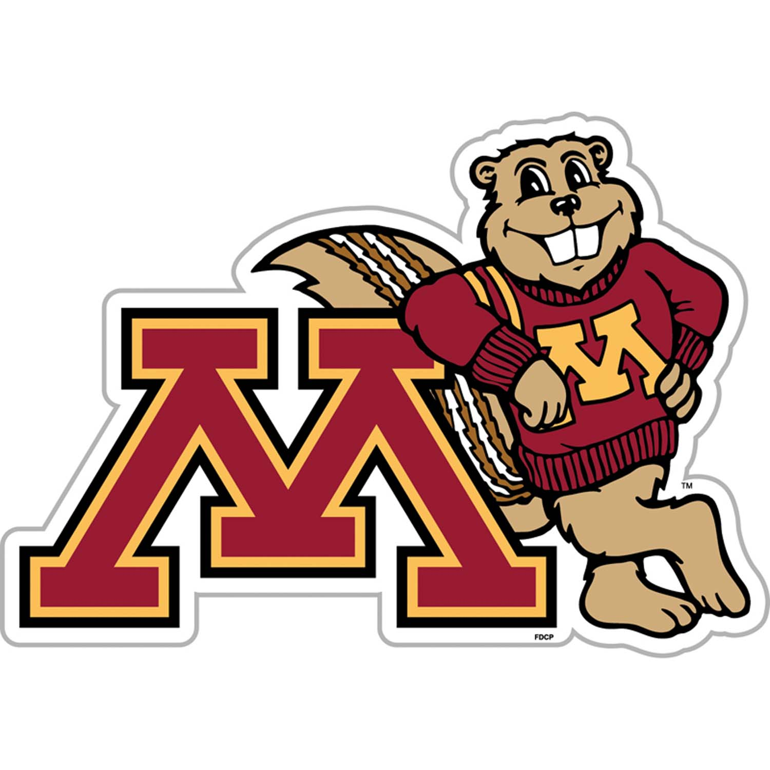 Minnesota Gophers Vinyl Magnet Set of 2.