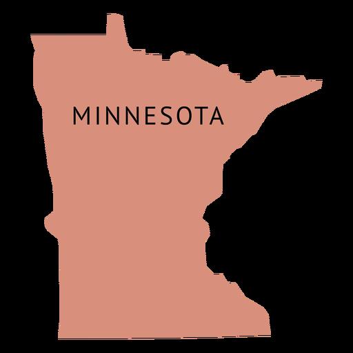 Minnesota state plain map.