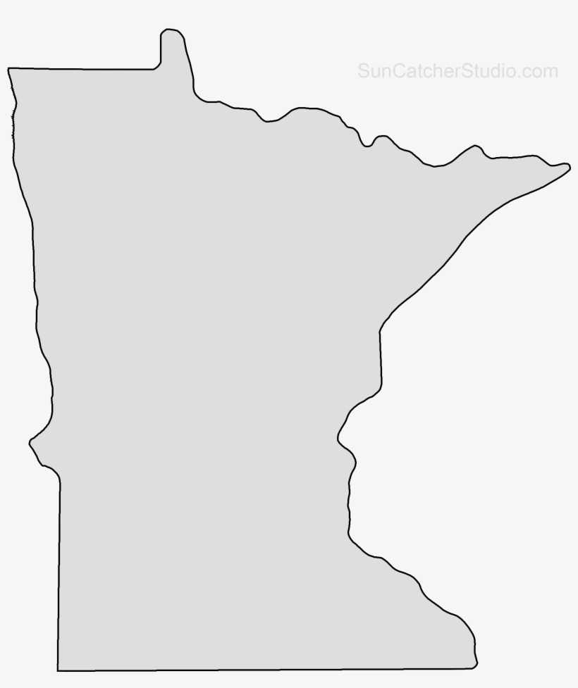 Minnesota Map Outline Png Shape State Stencil Clip.
