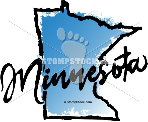 Minnesota State Graphic Clip Art.