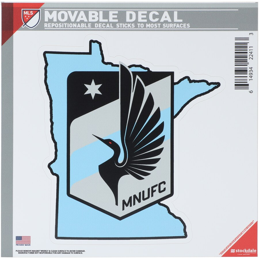 Minnesota United FC All Surface State Decal Logo.
