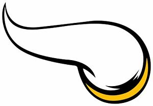 Details about Minnesota Vikings Horn Logo Vinyl Decal / Sticker 5 Sizes!!!.