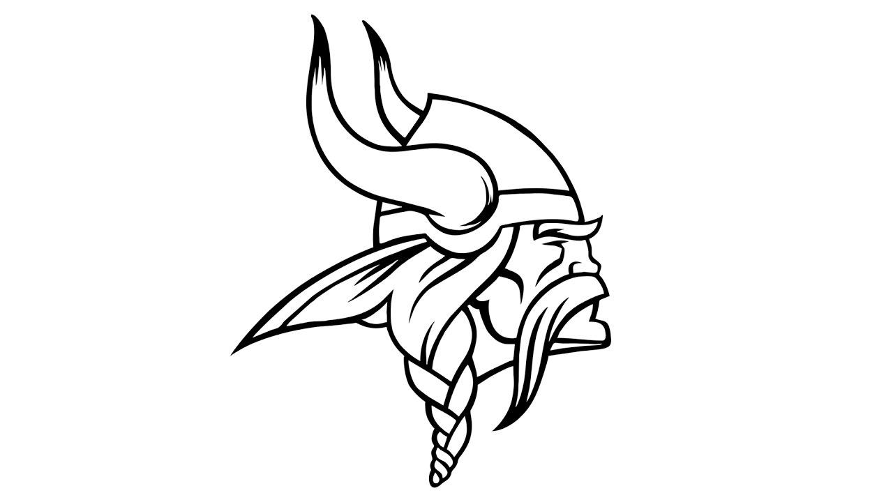 How to Draw the Minnesota Vikings Logo (NFL).