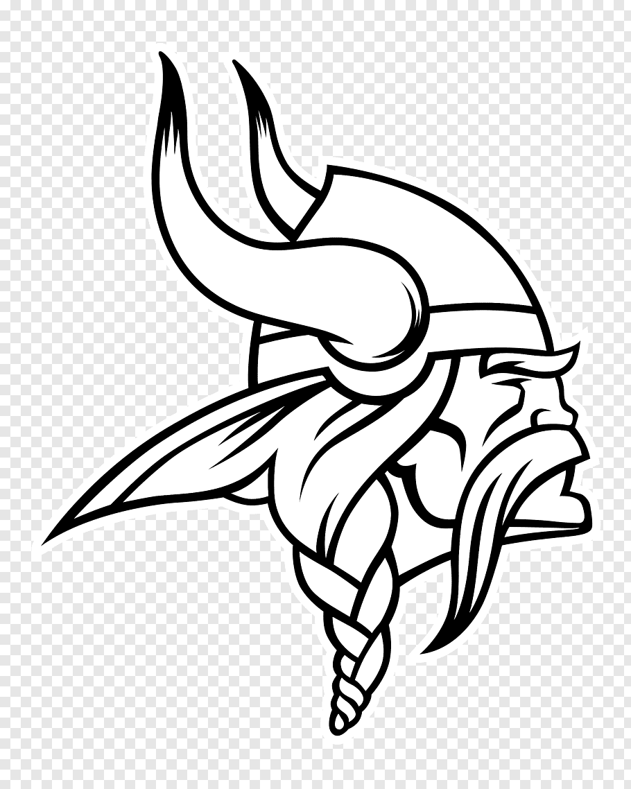 Minnesota Vikings logo illustration, Minnesota Vikings NFL.