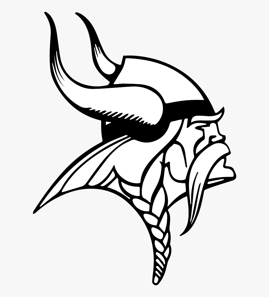 Minnesota Vikings Logo Black And White.