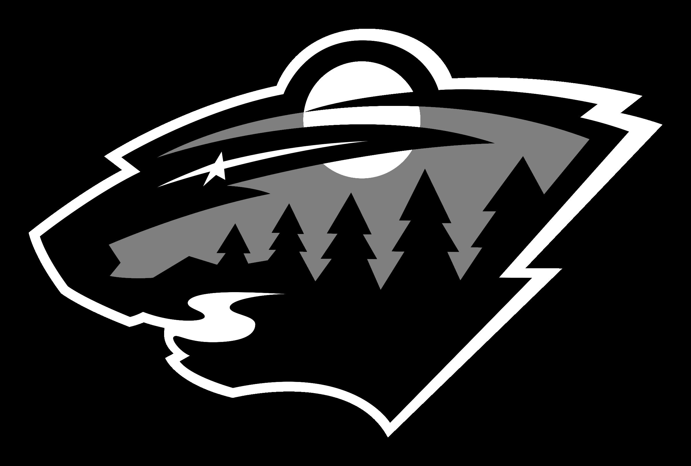 Minnesota Wild logo black and white.