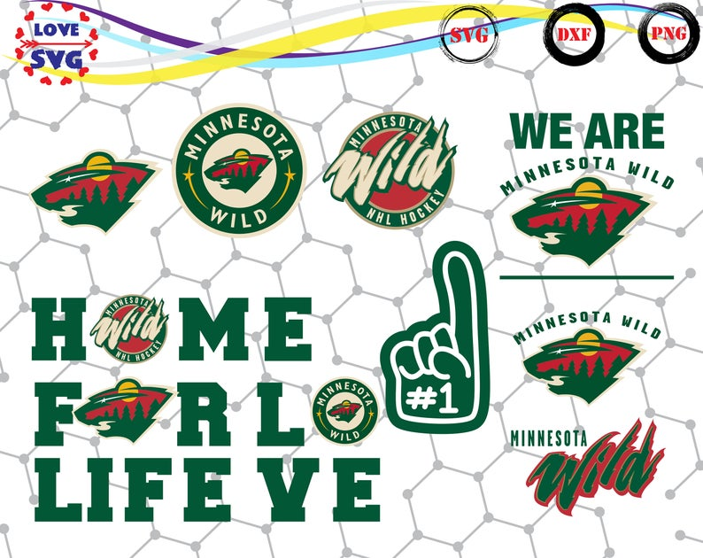 Minnesota Wild svg,png,dxf/Minnesota Wild clipart for  Print/Design/Cricut/Silhouette and any more.
