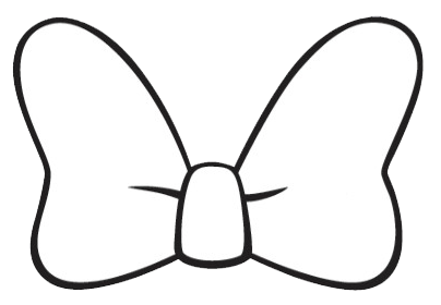 Minnie Mouse Bow Silhouette Template.