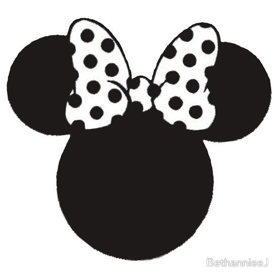Mouse Ears with Black & White Spotty Bow.