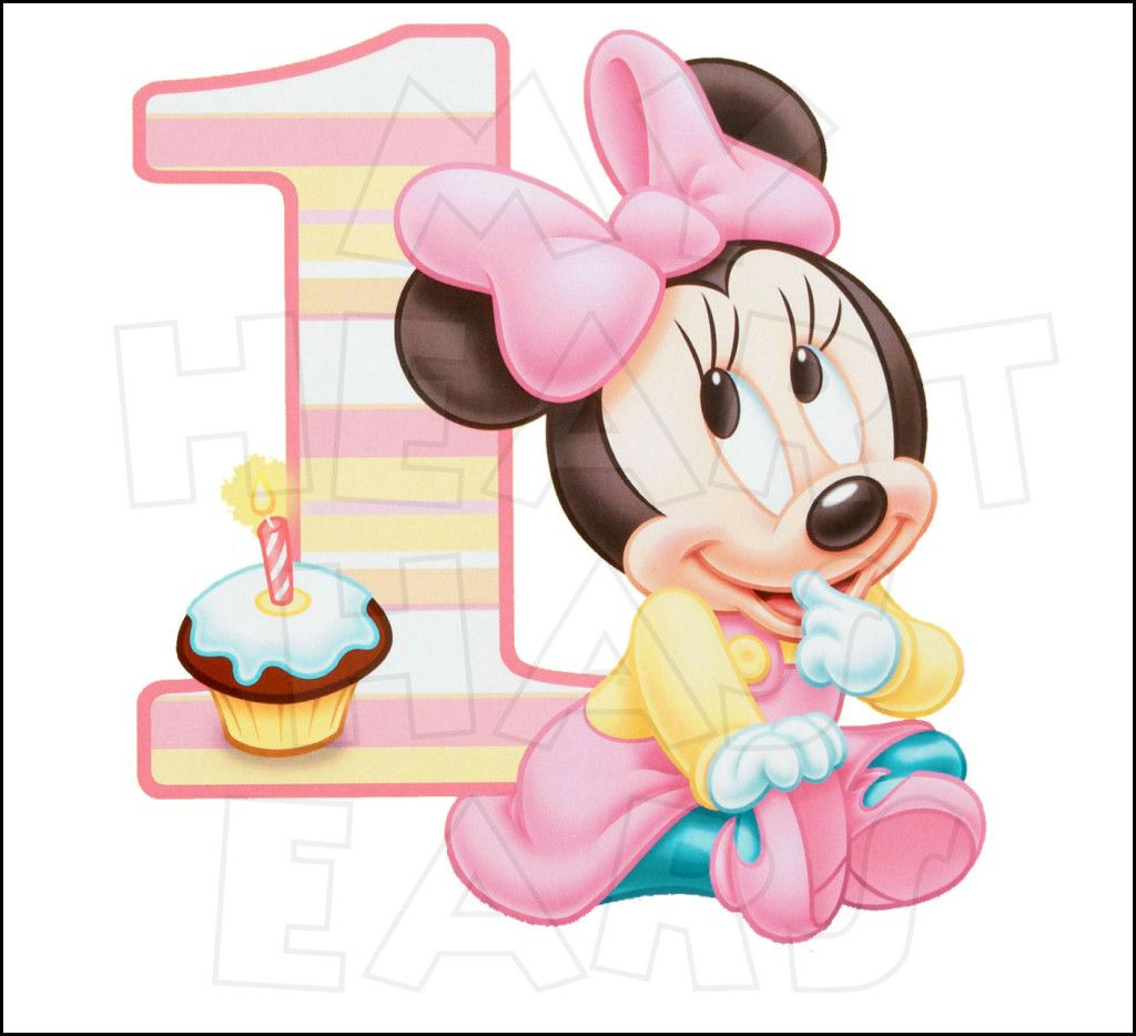 Baby Minnie Mouse 1st Birthday INSTANT DOWNLOAD digital clip.